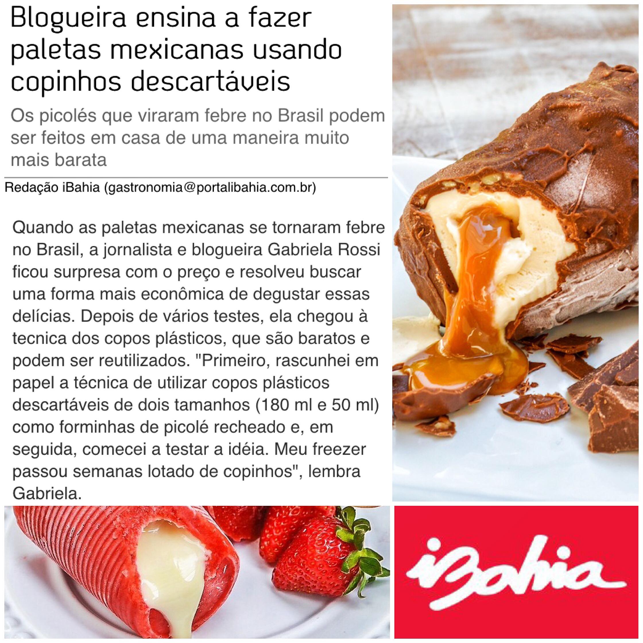 Paletas do Bom Gosto aparecem em matéria do Portal iBahia da Rede Globo