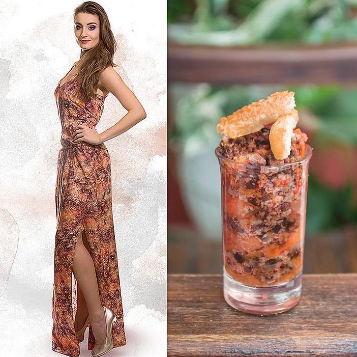 Fashion Food: Vestido longo x Quibebe
