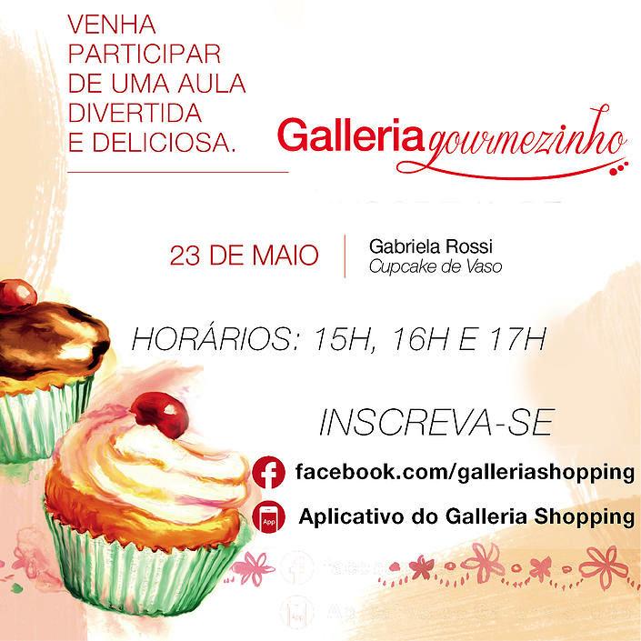 Inscreva-se: Gabi Rossi ensinará crianças a fazerem 'Cupcakes de Vaso' neste sábado (23) em Campinas/SP