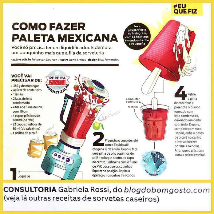 Paleta Mexicana do Bom Gosto é destaque na revista Mundo Estranho