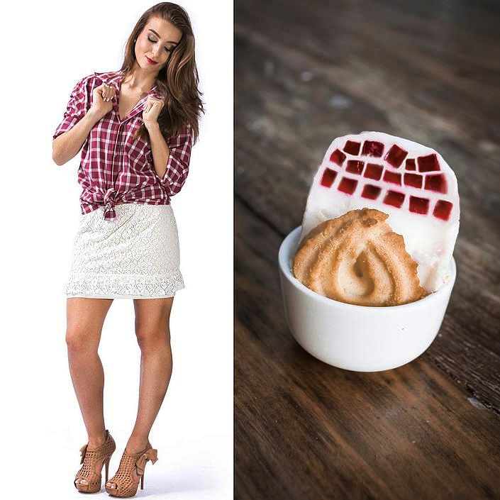 Fashion Food: Camisa Xadrez x Gelatina Quadriculada