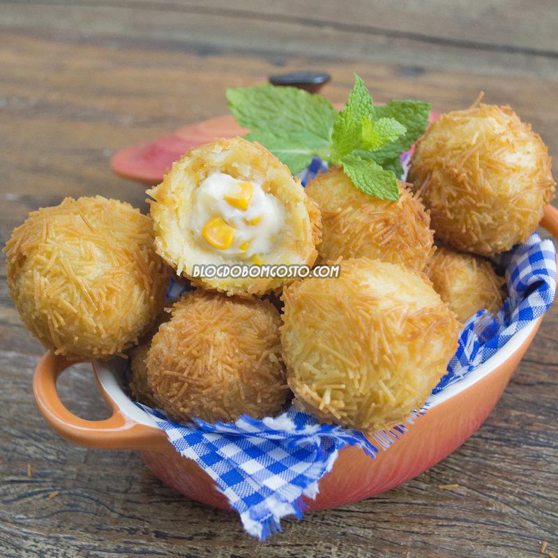 Bolinho Crispy de Milho (sugestão para festa junina)