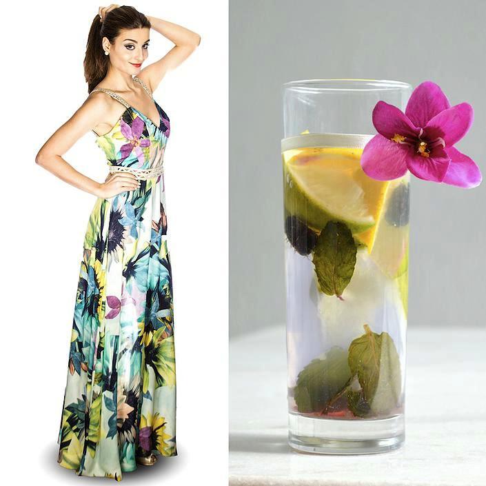 Fashion Food: Água Aromatizada x Vestido Floral