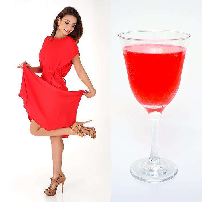 Fashion Food: Vestido longo X Drink Cranberry