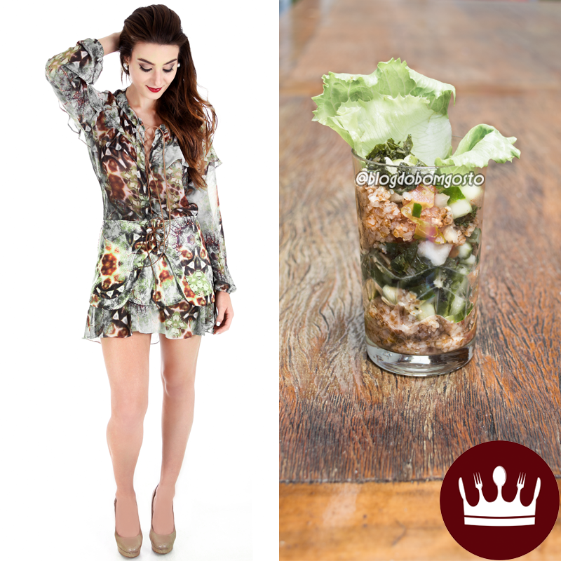 Fashion Food: Vestido de babados x Tabule