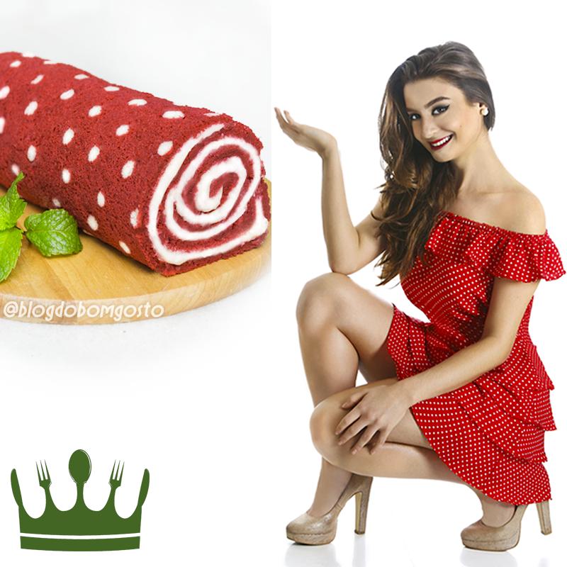 Fashion Food: Rocambole Estampado x Vestido de Bolinhas