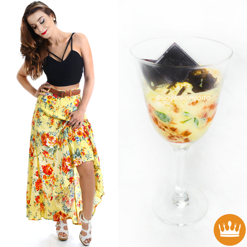 Fashion Food: Mousse de Maracujá x Strappy Bra + Floral