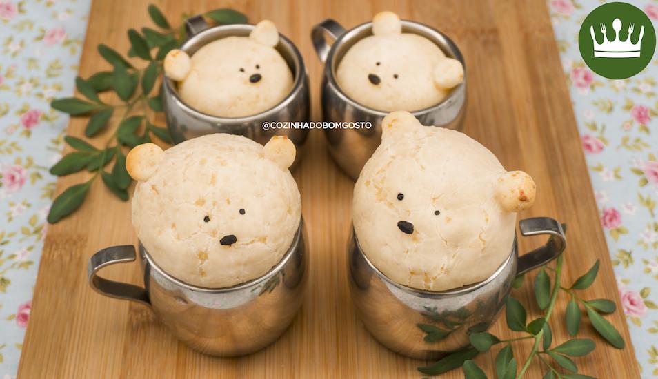 Pão Ursinho na Xícara (3 ingredientes)