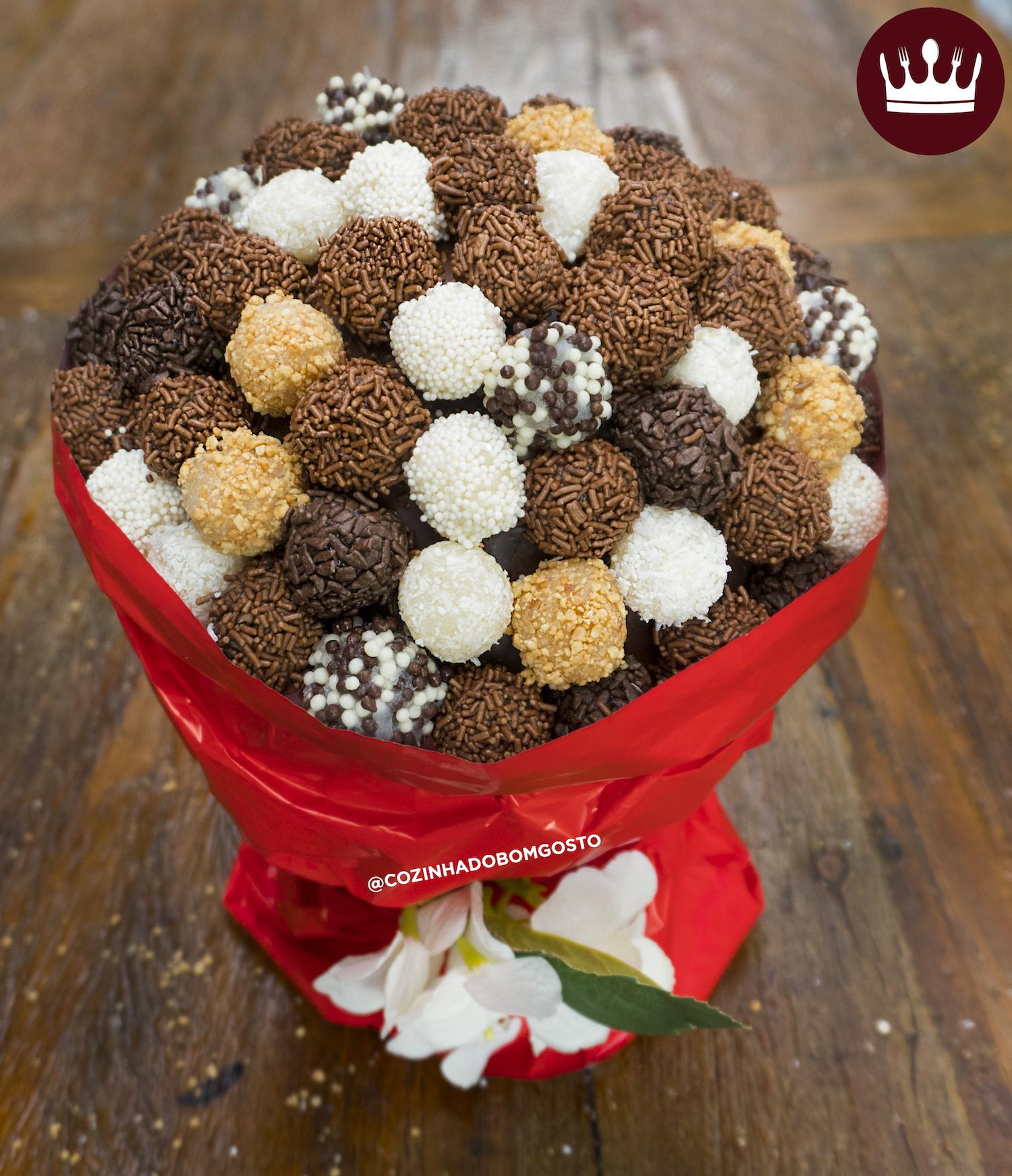 Buquê de Brigadeiro ('Bouquet' para o Dia dos Namorados)