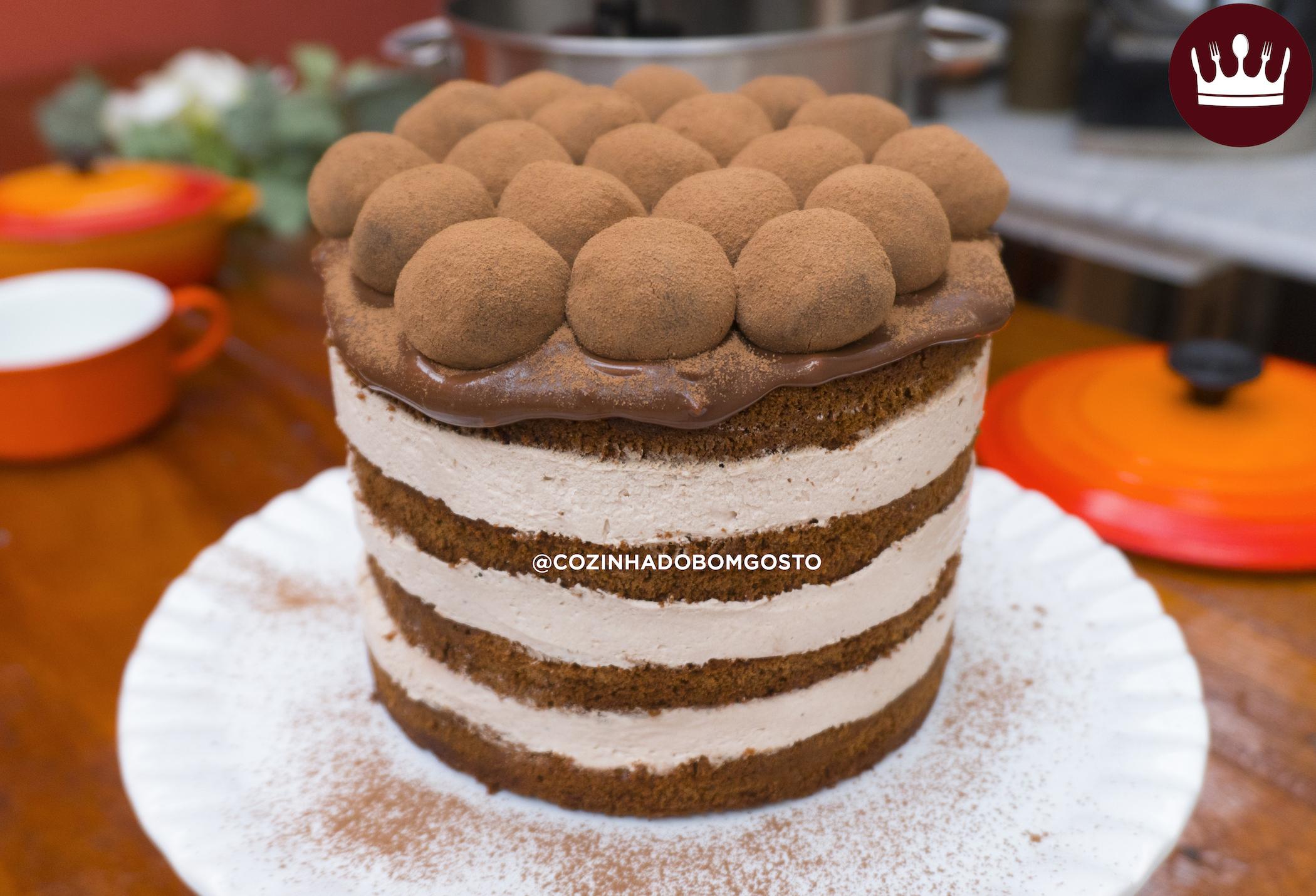 BOLO NAKED CAKE TRUFADO