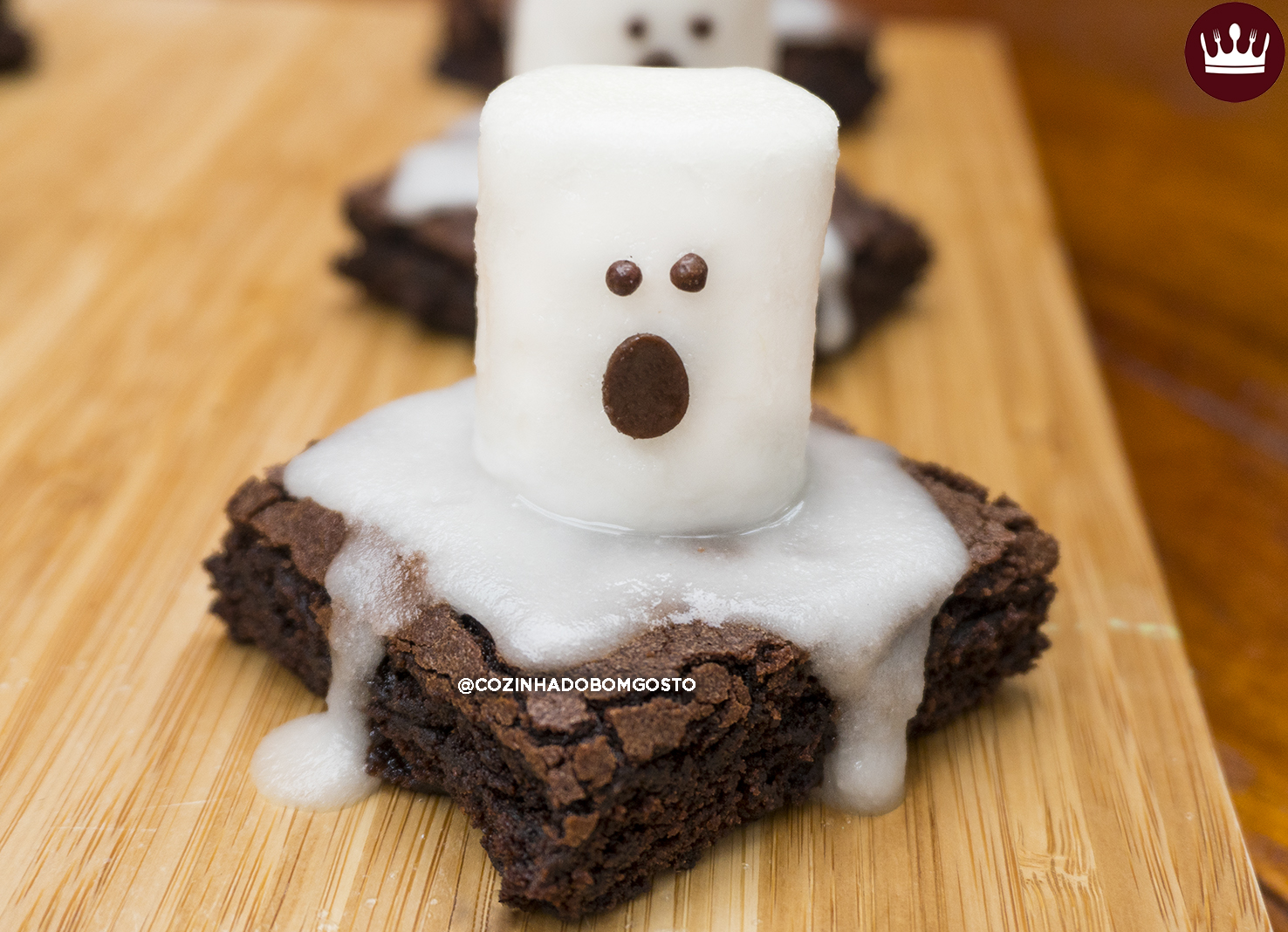 BROWNIE FANTASMA (receita super fácil de Halloween!)