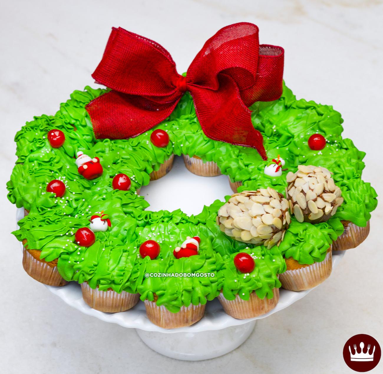 GUIRLANDA DE CUPCAKE (fácil de fazer!) – Especial de Natal!