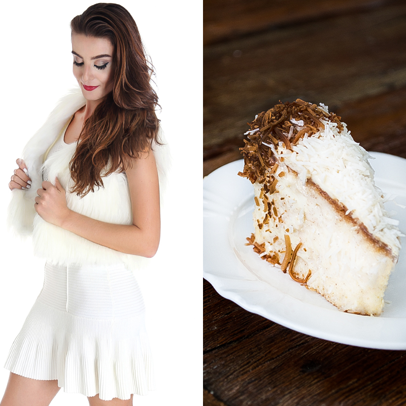 Fashion Food: All White x Bolo de Coco Gelado